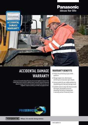 AccidentAl dAmAge WArrAnty - Panasonic