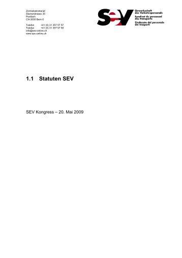 1.1 Statuten SEV