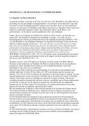 HOOFDSTUK 2 : DE PRAXEOLOGIE VAN PIERRE BOURDIEU 2.1 ...