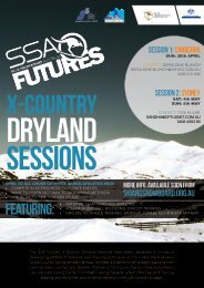 SSA Futures Cross Country Dryland Sessions