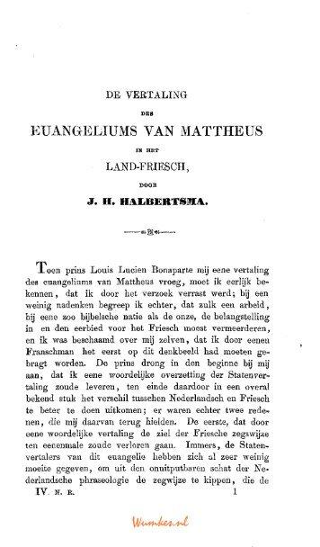 KUANGELIUMS VAN MATTHEÜS - Tresoar