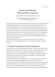 Interaktiv genusforskning med fokus på jämställdhet i organisationer ...
