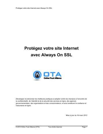 Protégez votre site Internet avec Always On SSL - Online Trust ...