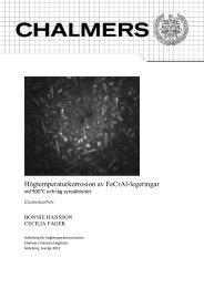 Rapport Högtemperaturkorrosion FeCrAl vid lågt syreaktivitet