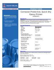 Corrosion Protective, Quick Dry Epoxy Primer - Sherwin-Williams ...