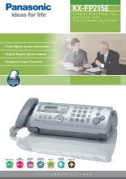 KX-FP215E - Panasonic Business