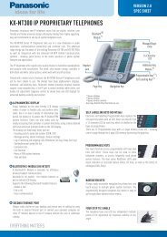KX-NT300 IP PROPRIETARY TELEPHONES - Panasonic Business