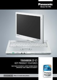 toughbook cf-c1. - Introducing solutions for a better working world ...