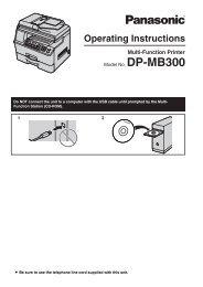 Operating Instructions - Panasonic Business