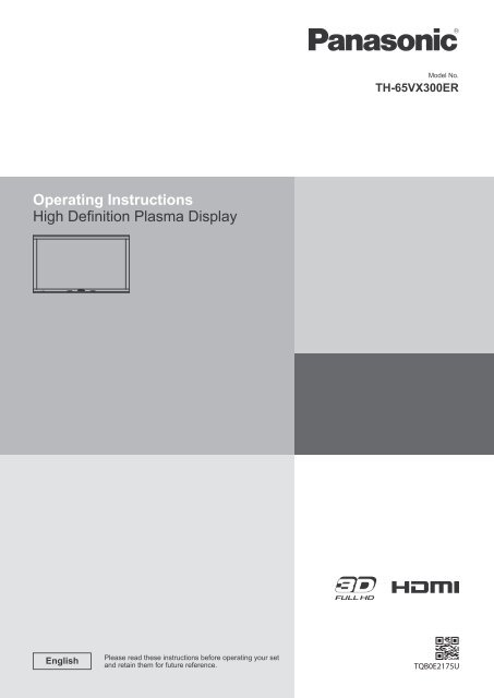 Instruction Manual - Panasonic Business