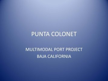 Punta Colonet: Multimodal Project in Baja California