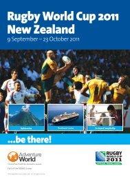Rugby World Cup 2011 New Zealand - e-Travel Blackboard