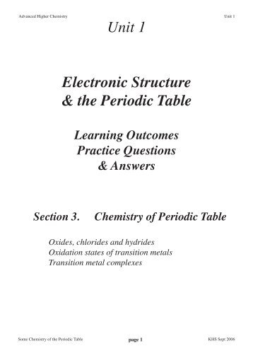chemistry periodic tableindd chemistry teaching resources