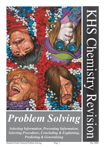 Problem Solving - Chemistry Teaching Resources