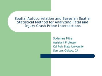 Spatial Autocorrelation and Bayesian Spatial Statistical Method for ...
