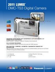 2011 LUMIX® DMC-TS3 Digital Camera - One Call