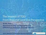 From Regional Land Use Perspective - Leonard Transportation Center