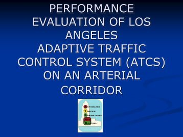 performance evaluation of los angeles adaptive traffic control system