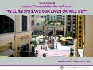Will SB - Leonard Transportation Center
