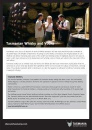 Tasmanian Whisky and Vodka - e-Travel Blackboard