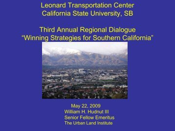Winning Strategies for Southern California - Leonard Transportation ...