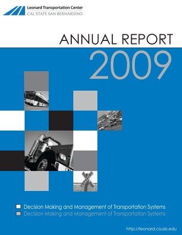 ANNUAL REPORT - Caltrans - State of California