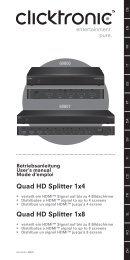Quad HD Splitter - Wentronic