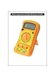 Bedienungsanleitung Digital-Multimeter M-930L - Wentronic