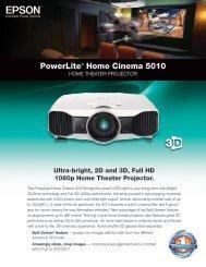 PowerLite® Home Cinema 5010 - One Call