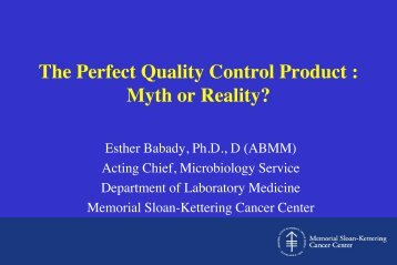 The Perfect Quality Control Product : Myth or Reality?