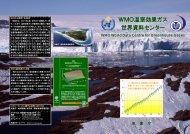 WMO温室効果ガス 世界資料センター - 気象庁