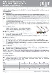 Schnellstart-Anleitung für USB - HUB CABLE USB 2.0 - Wentronic