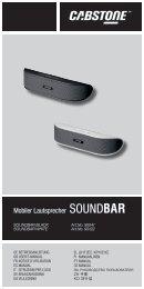 soundbar Betriebsanleitung - user's manual - Wentronic