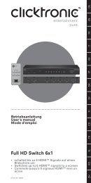 Full HD Switch 6x1 - Wentronic