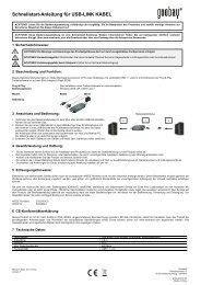 Schnellstart-Anleitung für USB-LINK KABEL - Wentronic