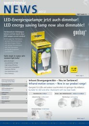 LED-Energiesparlampe jetzt auch dimmbar! LED energy ... - Wentronic