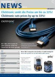 Clicktronic senkt die Preise um bis zu 33%! Clicktronic ... - Wentronic