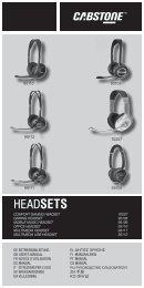 Betriebsanleitung für Cabstone Headsets - Wentronic