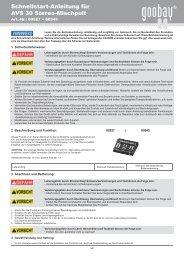 Schnellstart-Anleitung für AVS 30 Stereo-Mischpult - Wentronic