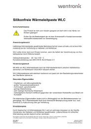 Silikonfreie Wärmeleitpaste WLC - Wentronic