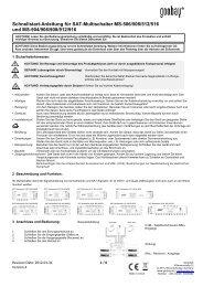Schnellstart-Anleitung für SAT-Multischalter MS-506/508 ... - Wentronic