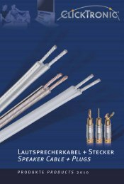 Lautsprecherkabel + Stecker Speaker Cable + Plugs - Wentronic