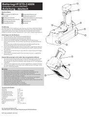 Batteriegriff STD-C400N - Canon 350D450D.cdr - Wentronic