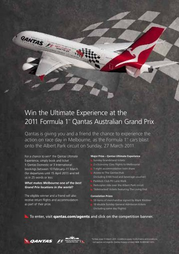 Win the Ultimate Experience at the 2011 Formula 1? Qantas ...