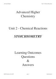 Stoichiometry LO's a.. - Chemistry Teaching Resources