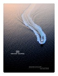 grand banks yachts limited 2008 annual report because the sea is ...