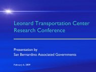 San Bernardino Associated Governments (SANBAG) - Leonard ...
