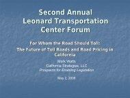 Toll Roads in California: One Advocate's Perspective - Leonard ...