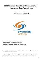 2012 Victorian Open Water Championships / Hazelwood Open ...