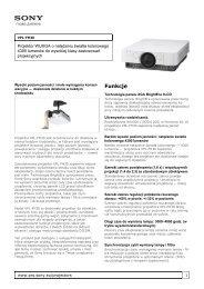 Sony : Informacje o produktach : VPL-FH30 (VPLFH30 ... - RMS.pl